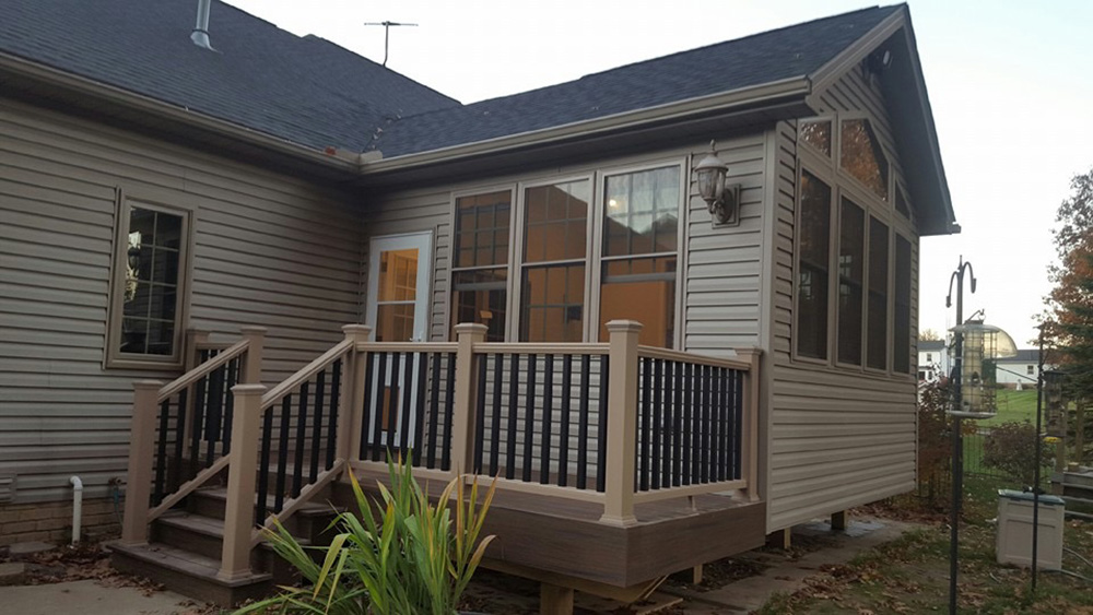 Room addition with Trex Deck